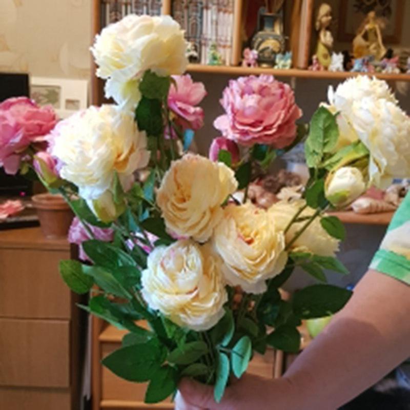 3-Tetes-Fleurs-artificielles-Bouquet-de-pivoines-Fleurs-en-soie-Bouquet-de-L9J1