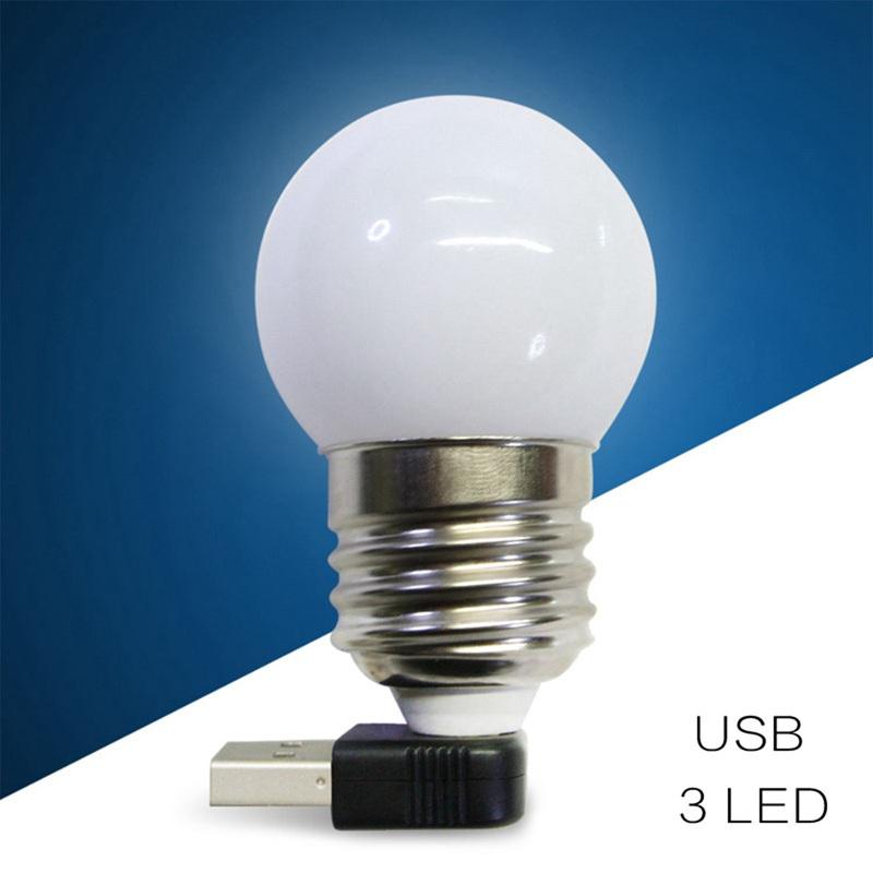 ampoule led usb mini veilleuse lampe de bureau led lumiere. Black Bedroom Furniture Sets. Home Design Ideas