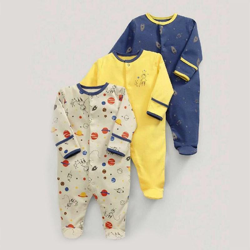 3x (Baby  fruehling y otoño planeta algodón manga larga Baby traje de baño 3 stb8l5)  Hay más marcas de productos de alta calidad.