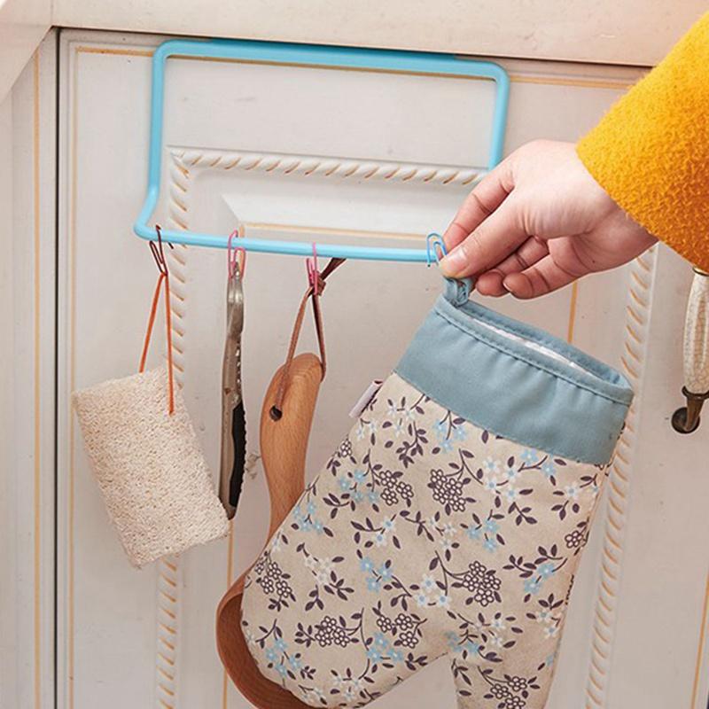 thumbnail 10 - 1X-1Pc-Kitchen-Organizer-Towel-Rack-Hanging-Holder-Bathroom-Cabinet-Cupboa-W3F3