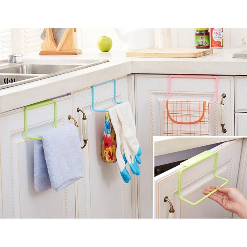 thumbnail 13 - 1Pc-Kitchen-Organizer-Towel-Rack-Hanging-Holder-Bathroom-Cabinet-Cupboard-H-D3Y5