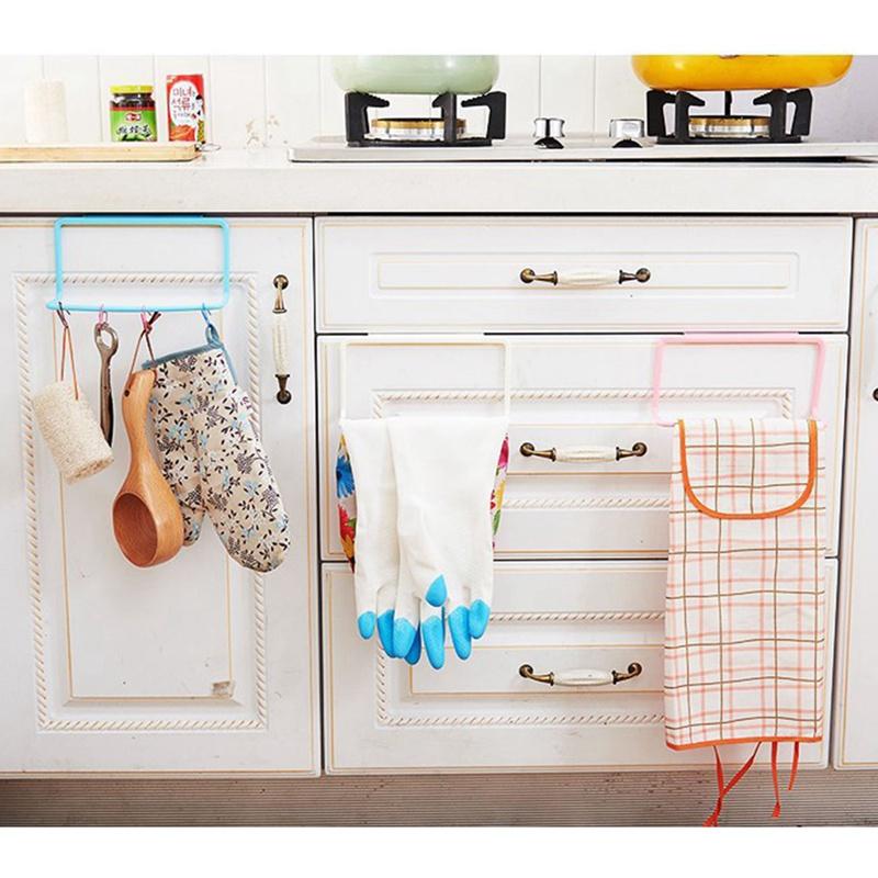 thumbnail 16 - 1Pc-Kitchen-Organizer-Towel-Rack-Hanging-Holder-Bathroom-Cabinet-Cupboard-H-D3Y5