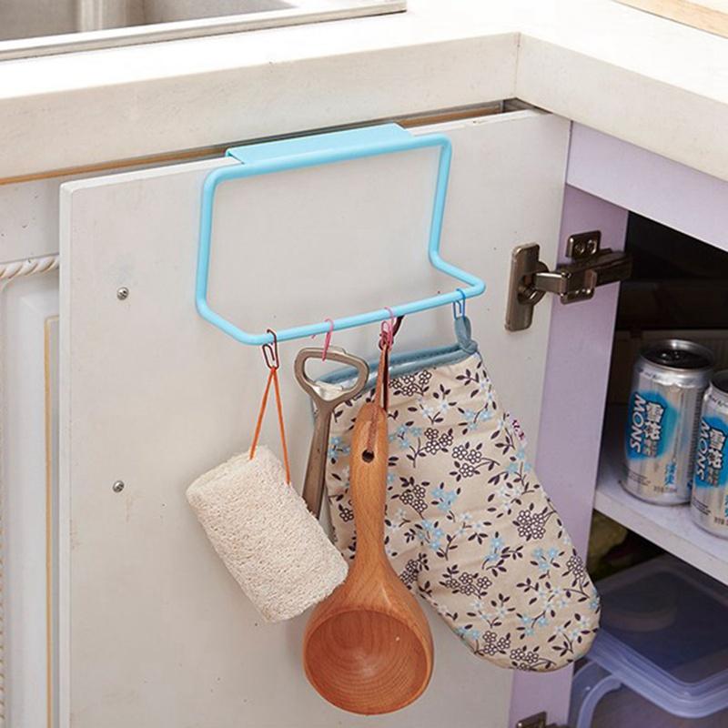 thumbnail 17 - 1Pc-Kitchen-Organizer-Towel-Rack-Hanging-Holder-Bathroom-Cabinet-Cupboard-H-D3Y5