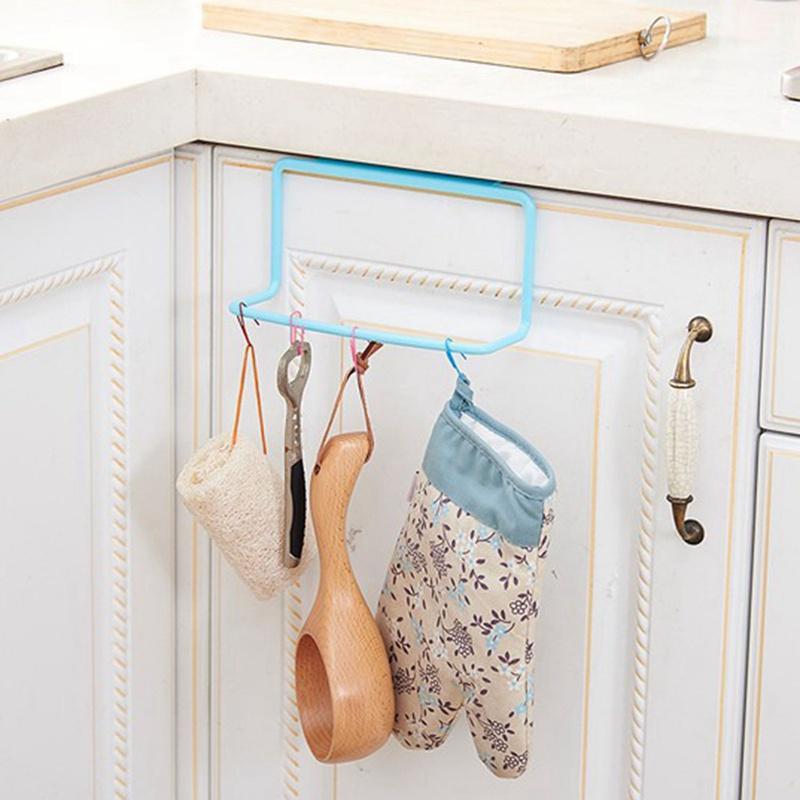 thumbnail 19 - 1Pc-Kitchen-Organizer-Towel-Rack-Hanging-Holder-Bathroom-Cabinet-Cupboard-H-D3Y5