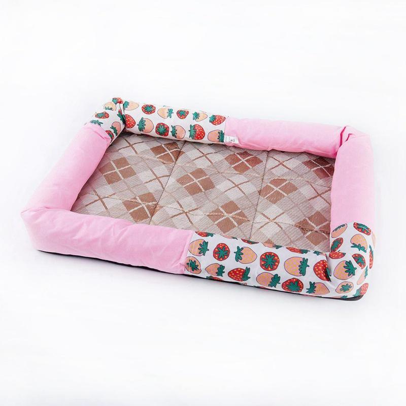 Indexbild 4 - Sommer Eis Seide Cool Breathable Haustier Hund Katze schlafen Bett Matten N E3E6