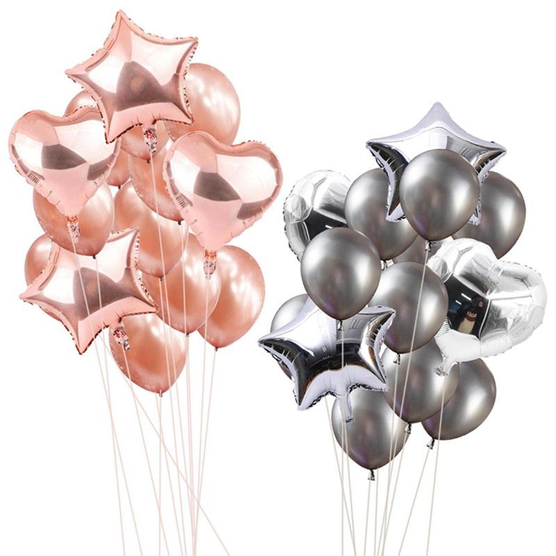 14pcs-12-pouces-18-pouces-Multi-Ballons-a-air-Decorations-de-ballon-a-l-039-hel-O2Q2 miniature 12