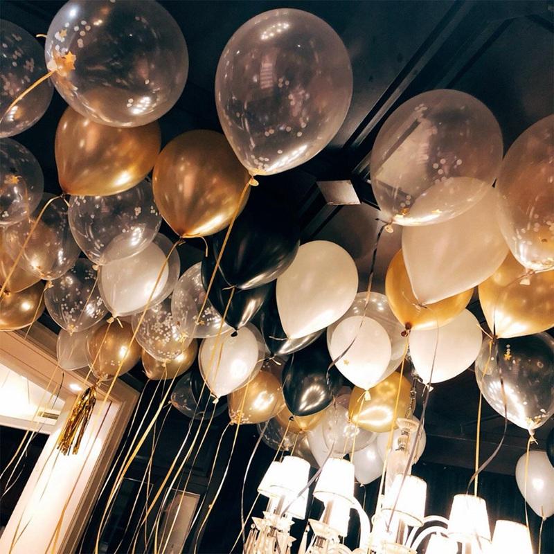 14pcs-12-pouces-18-pouces-Multi-Ballons-a-air-Decorations-de-ballon-a-l-039-hel-O2Q2 miniature 14