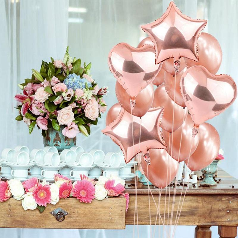 14pcs-12-pouces-18-pouces-Multi-Ballons-a-air-Decorations-de-ballon-a-l-039-hel-O2Q2 miniature 34
