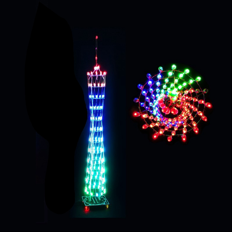 DIY LED Light Cube Canton Tower Suite Wireless Remote