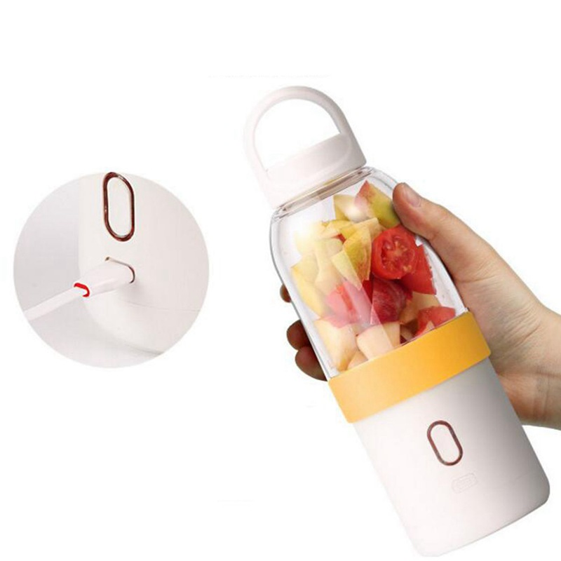 550ml-Licuadora-portatil-Copa-exprimidor-USB-Batidora-de-frutas-y-verduras-E7A7 miniatura 3