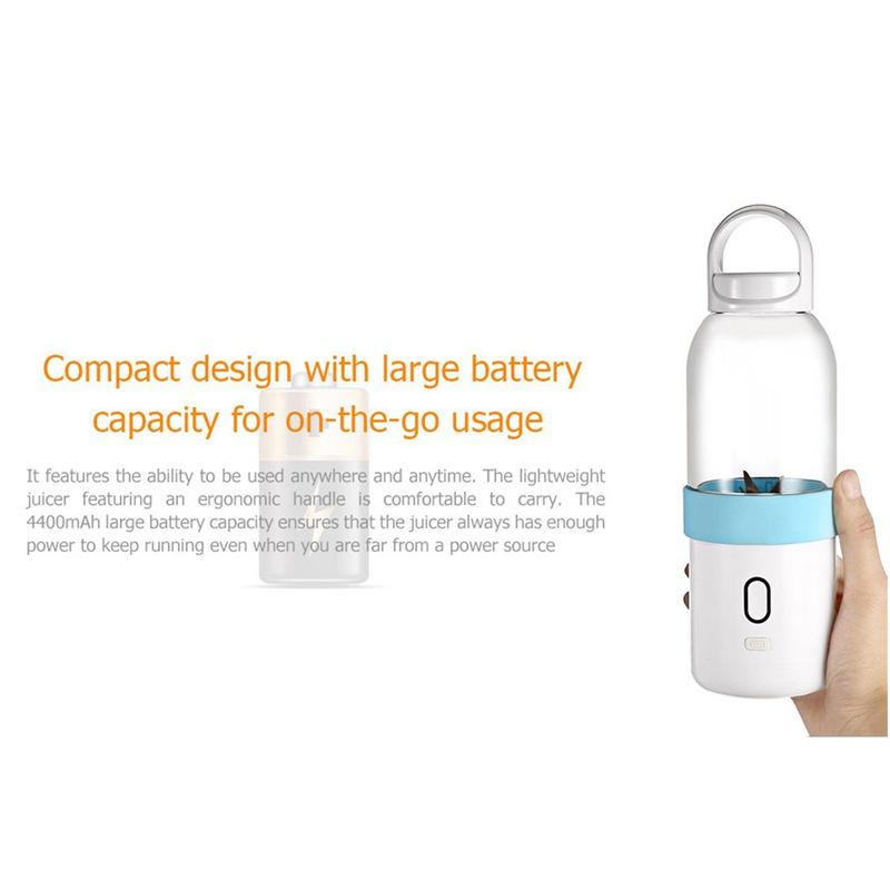 550ml-Licuadora-portatil-Copa-exprimidor-USB-Batidora-de-frutas-y-verduras-E7A7 miniatura 8