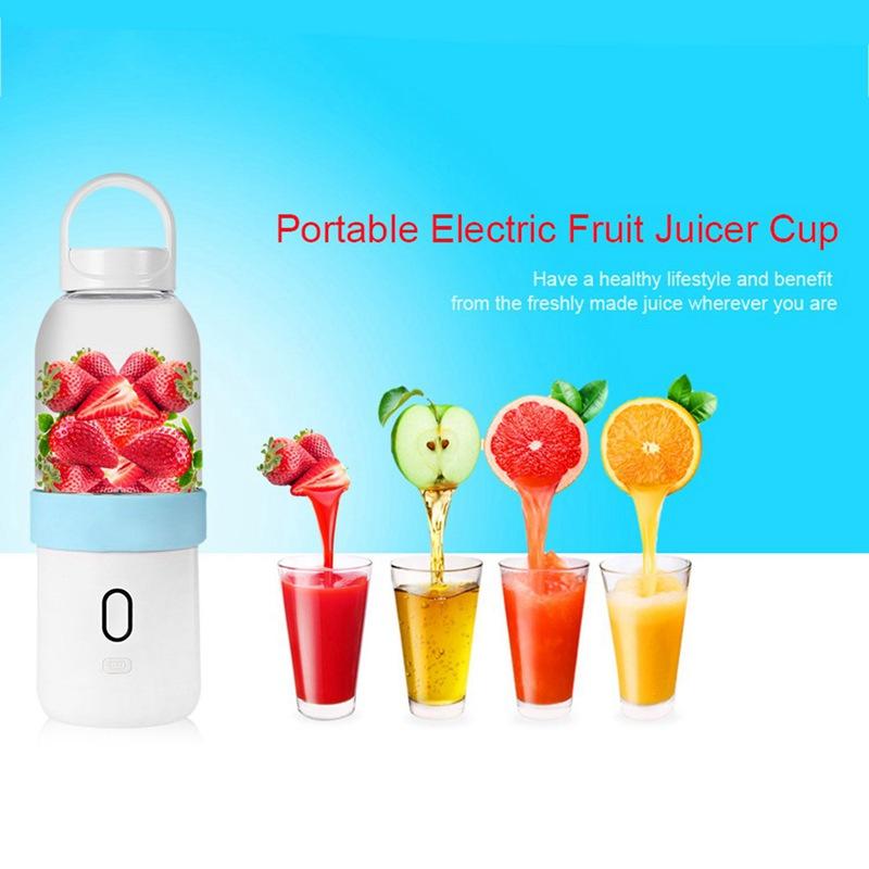 550ml-Licuadora-portatil-Copa-exprimidor-USB-Batidora-de-frutas-y-verduras-E7A7 miniatura 16