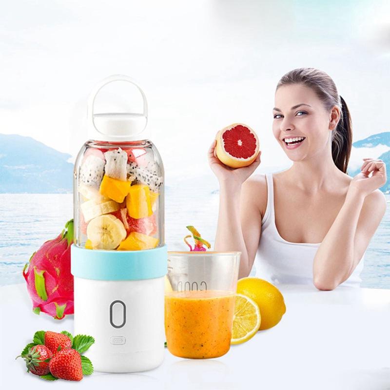 550ml-Licuadora-portatil-Copa-exprimidor-USB-Batidora-de-frutas-y-verduras-E7A7 miniatura 24