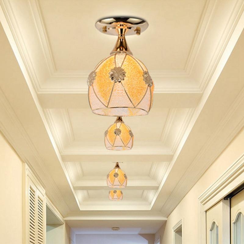 Simple-moderne-fer-lustre-simple-tete-E27-lampes-pendentif-en-cristal-lumiere-X1 miniature 5