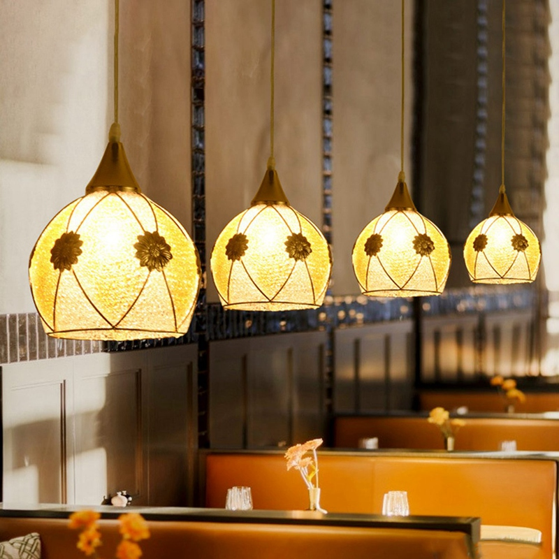Simple-moderne-fer-lustre-simple-tete-E27-lampes-pendentif-en-cristal-lumiere-X1 miniature 8