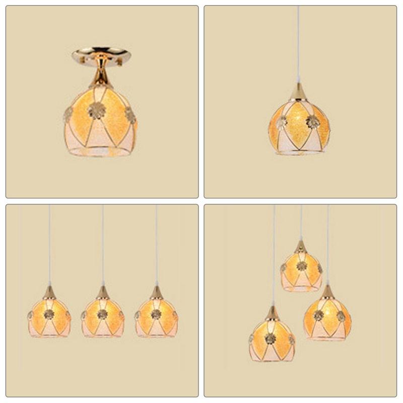 Simple-moderne-fer-lustre-simple-tete-E27-lampes-pendentif-en-cristal-lumiere-X1 miniature 9