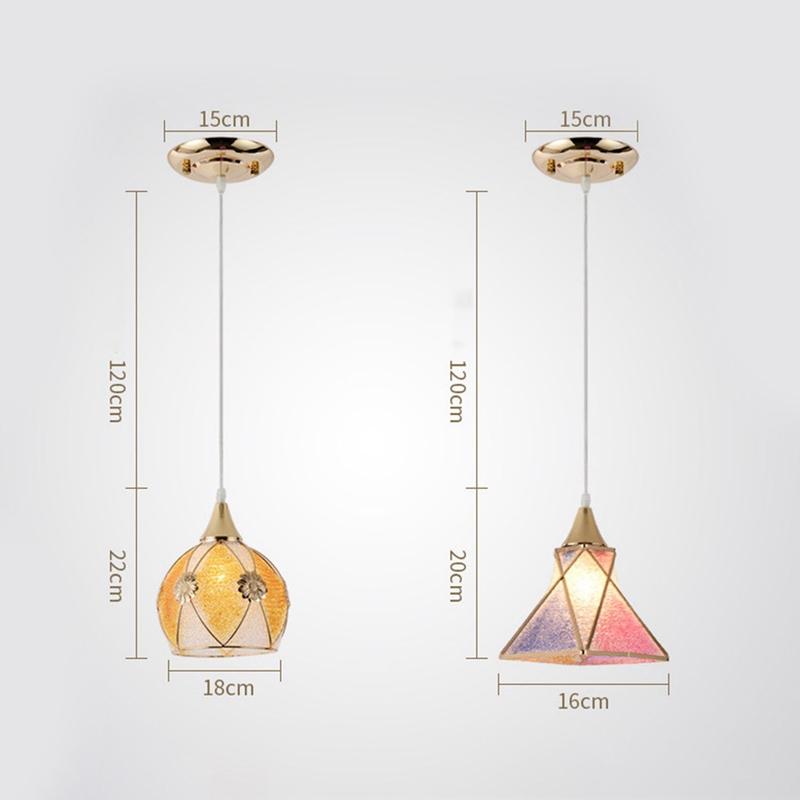 Simple-moderne-fer-lustre-simple-tete-E27-lampes-pendentif-en-cristal-lumiere-X1 miniature 12