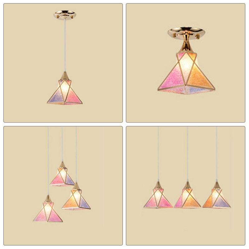 Simple-moderne-fer-lustre-simple-tete-E27-lampes-pendentif-en-cristal-lumiere-X1 miniature 13