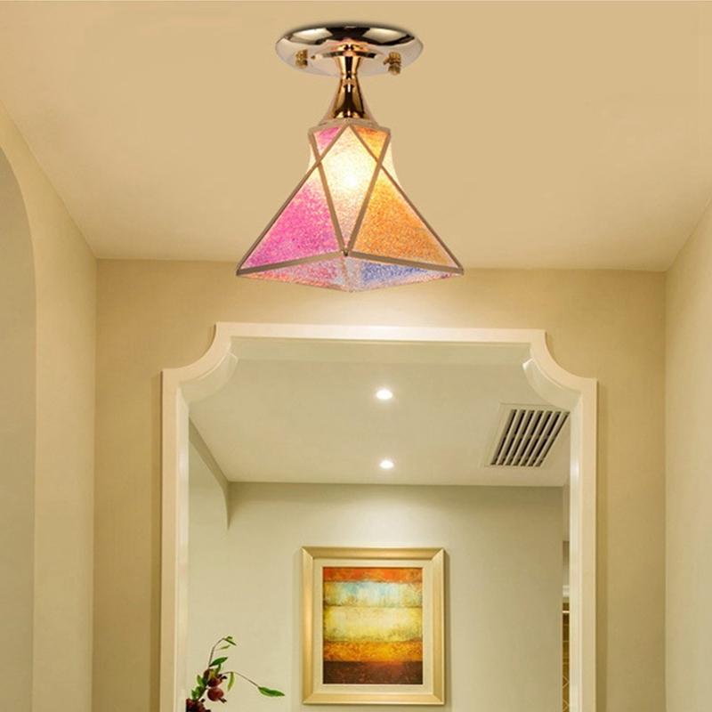 Simple-moderne-fer-lustre-simple-tete-E27-lampes-pendentif-en-cristal-lumiere-X1 miniature 15