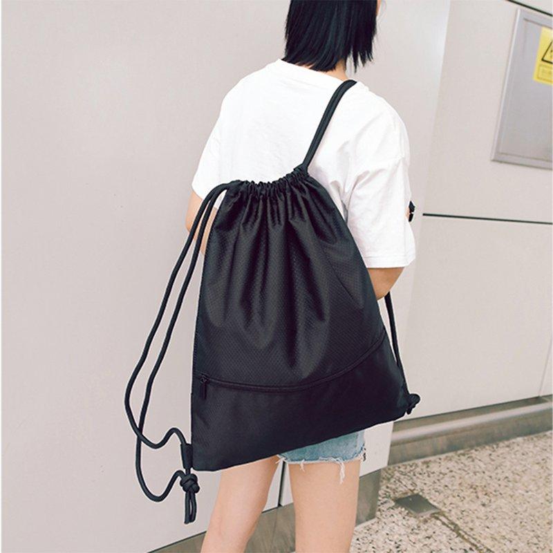 Sports-Bag-Waterproof-Gym-Bag-Large-Capacity-Drawstring-Bag-Foldable-Sack-DG1S7 thumbnail 17