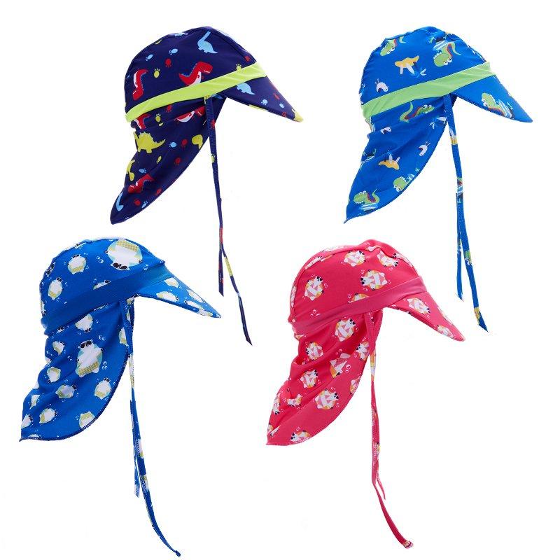 Sombrero de natacion de solapa deportivo proteccion solar ninos y ninas gorra Q5