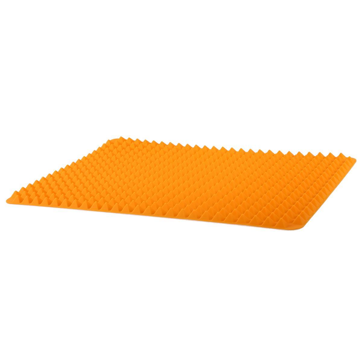 Silikon-Antihaft-gesunde-Kochen-Backmatte-mit-Pyramide-Oberflaeche-16-Zoll-F5L9