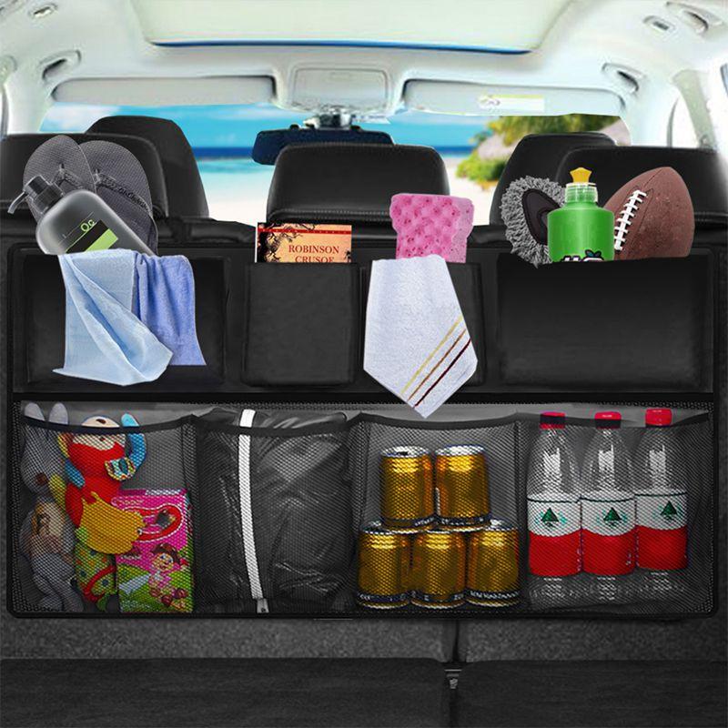 7x (Auto rear Seat-State indietro Custodia multi ANTIPARASSITARIO reti Borsa Trun FC