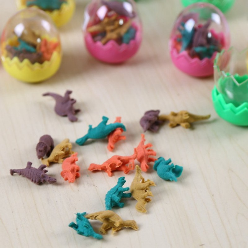 Eraser Office & School Supplies 1 Pair Colorful Cartoon Dinosaur Egg Shape Erasers Gift For Child