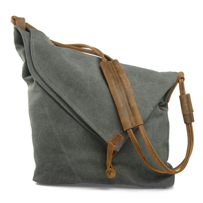 43407cea7e7 Crossbody Bag for Women, Slouch Bag, Canvas Shoulder Bag Flap Crossbody Bag  U6B3