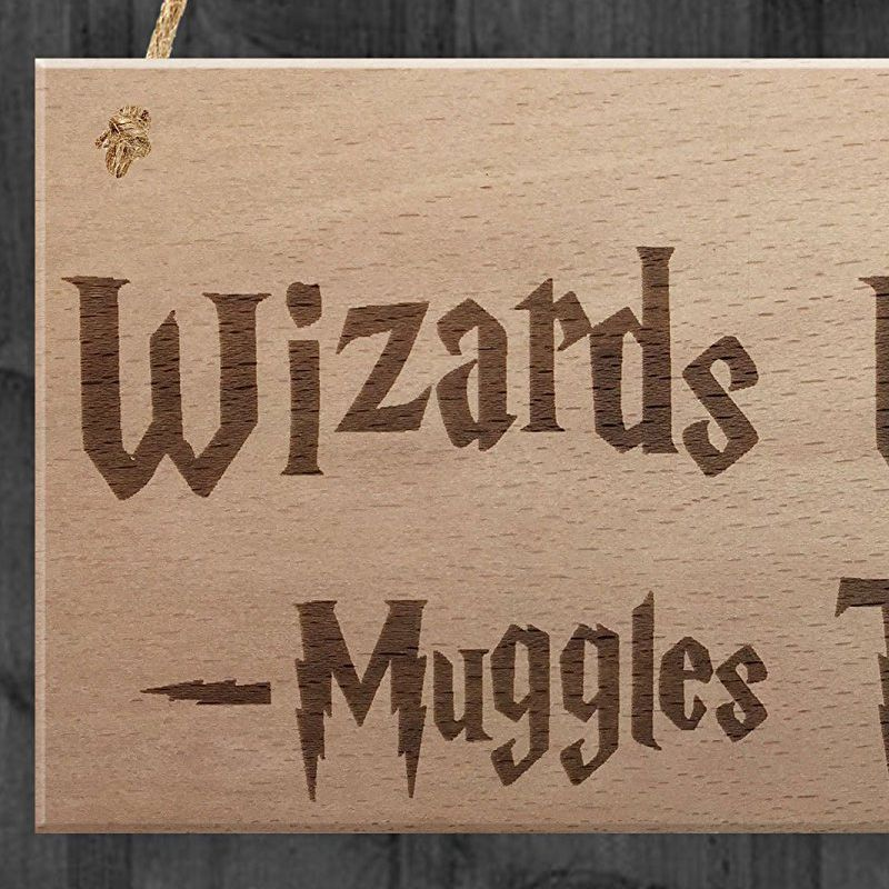 Wizards Welcome Muggles Tolerated Christmas gift Stocking filler door sign