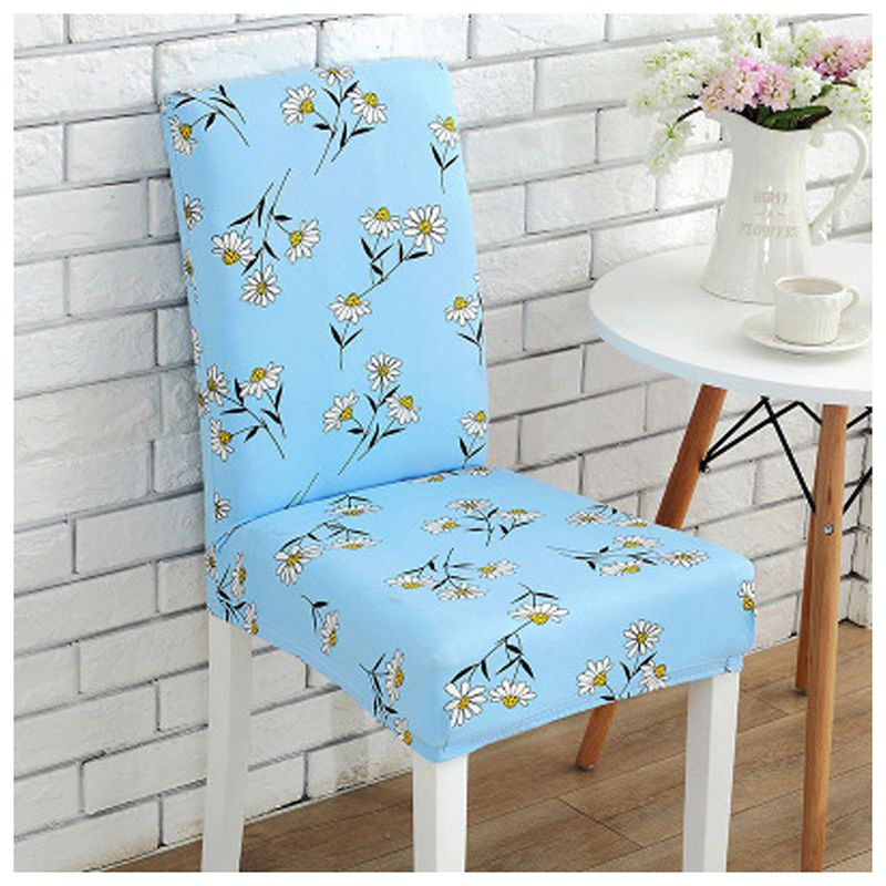 blue dining room chair covers | Stretch Spandex Chair Covers Dining Room Wedding Banquet ...