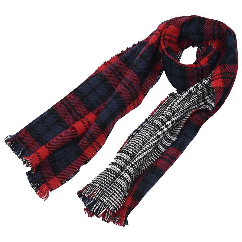 fe0ba0ab1c9d9 2X(Lady Women's Long Check Plaid Tartan Scarf Wraps Shawl Stole Warm Scarves  2*