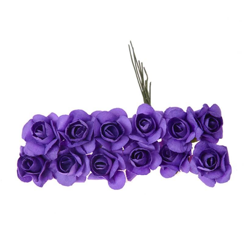 Environ-144Pcs-Mini-Papier-Rose-Fleur-pour-Faveur-de-Mariage-Artisanal-R9C9 miniature 3