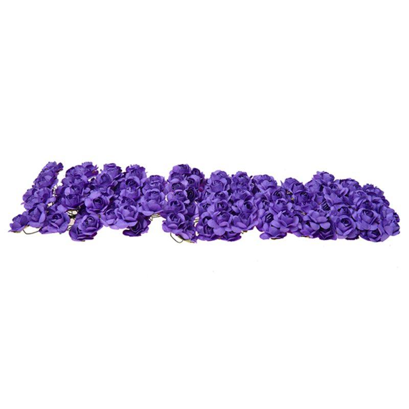 Environ-144Pcs-Mini-Papier-Rose-Fleur-pour-Faveur-de-Mariage-Artisanal-R9C9 miniature 6