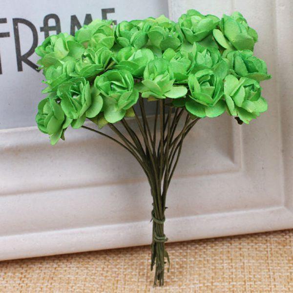Details About Small Flower Bud Artificial Rose Paper Flowers Bouquet Wedding Home Decor 1 X3c4
