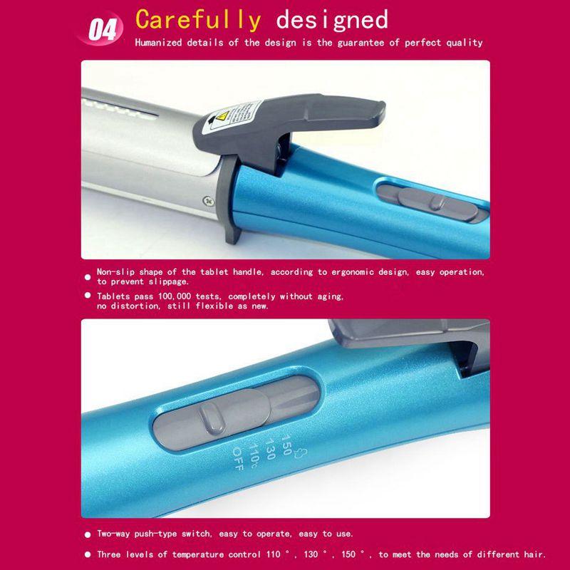Kemei-KM-300-Rizador-de-pelo-de-Vapor-para-pelo-Mojado-y-seco-de-uso-dual-Rizado