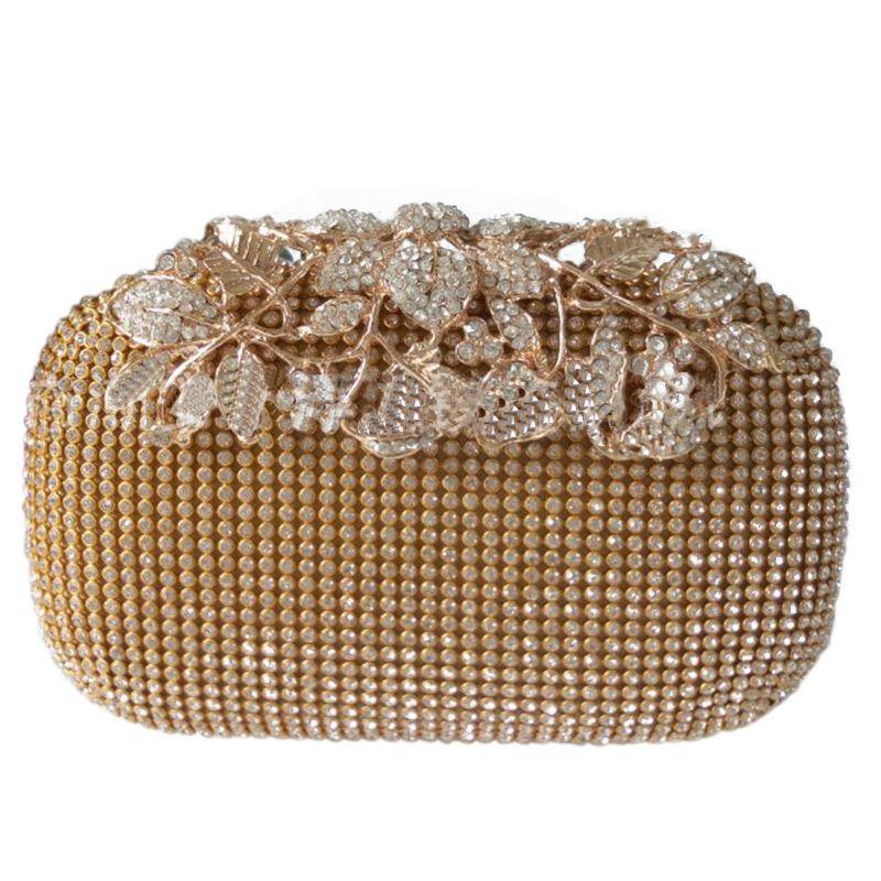 4X(Einzigartige Gold Strass Abendtasche Clutch Handtasche Party Braut Abschlu PT | Starke Hitze- und Hitzebeständigkeit