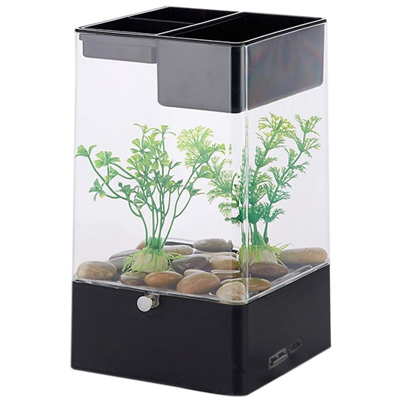 office desk aquarium.  Aquarium Image Is Loading LedLightSquareUsbInterfaceAquariumEcologicalOffice And Office Desk Aquarium