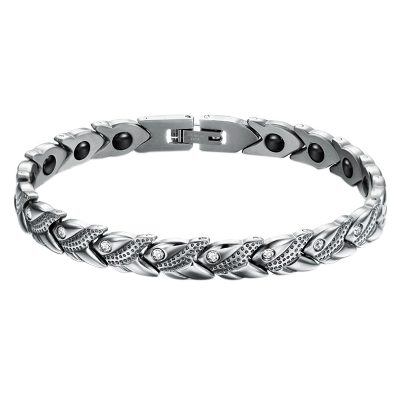 Anti-radiation-magnet-titanium-silver-bracelet-Men-X1I7