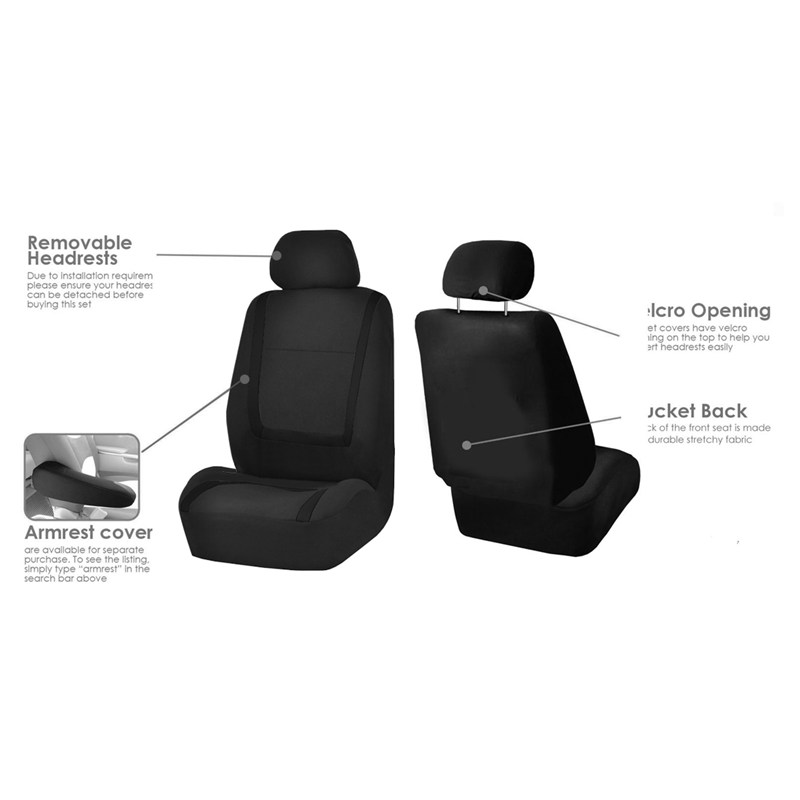 Cubiertas-de-asiento-auto-para-coche-sedan-camion-camioneta-Cubiertas-de-D1P3 miniatura 8