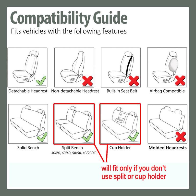 Cubiertas-de-asiento-auto-para-coche-sedan-camion-camioneta-Cubiertas-de-D1P3 miniatura 9