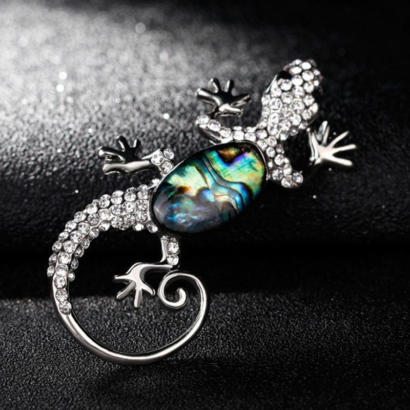 Broche-de-Abulon-animal-de-concha-de-Escalada-Gecko-Broche-de-pin-para-las-mujer
