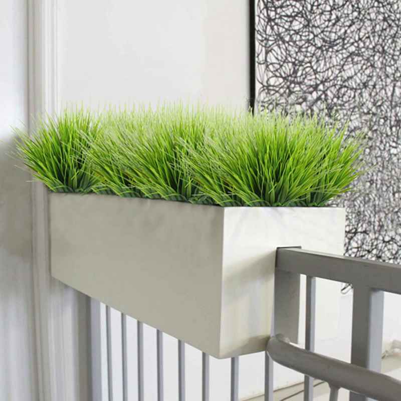 artificial outdoor plants, 4pcs fake plastic greenery shrubs wheat Artificial Outdoor Shrubs