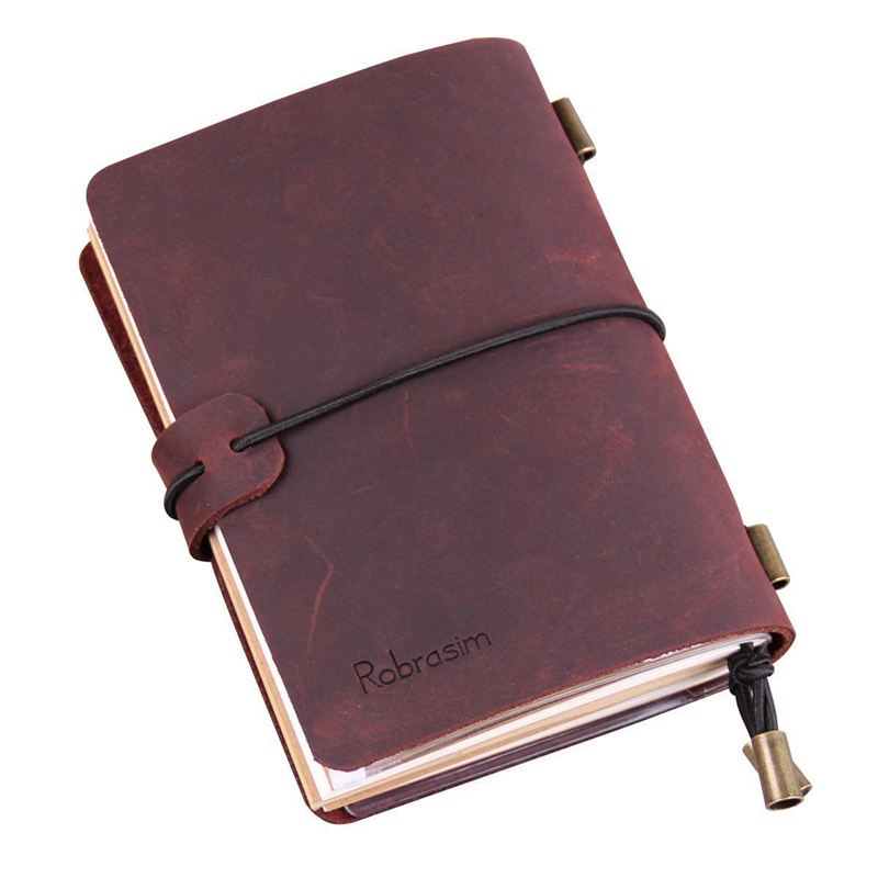 0feb11921 Cuaderno del viajero hecho a mano, de diario viaje cuero para los hombres y  F8A6