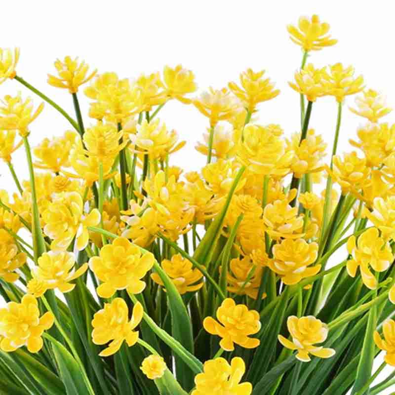 Flores Falsas Artificiales4pzs De Falosos Narcisos Amarillos - Narcisos-amarillos