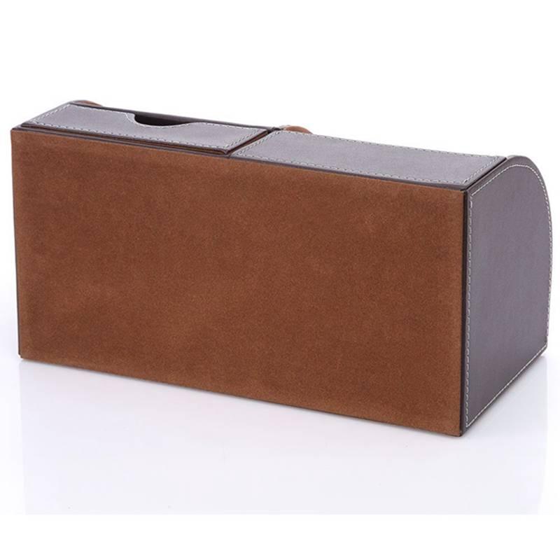 7-Compartiments-De-Stockage-Multifonctionnel-PU-Bureau-En-Cuir-Organisateur-D-SC miniature 5