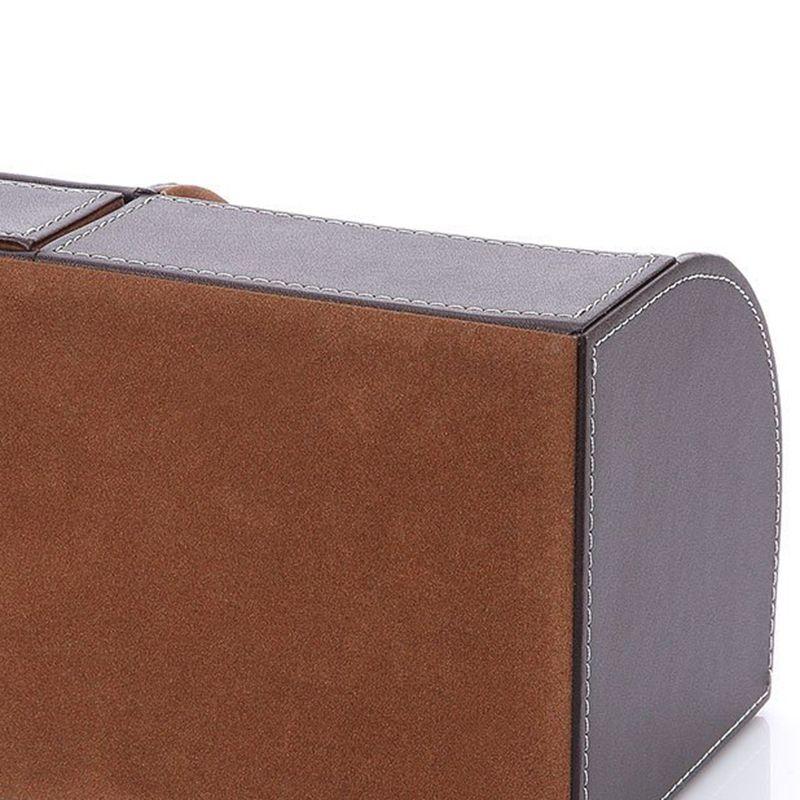 7-Compartiments-De-Stockage-Multifonctionnel-PU-Bureau-En-Cuir-Organisateur-D-SC miniature 9