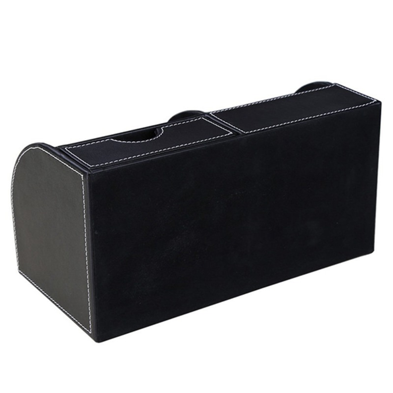 7-Compartiments-De-Stockage-Multifonctionnel-PU-Bureau-En-Cuir-Organisateur-D-SC miniature 12
