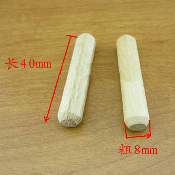 Paquete-de-100-Pasador-clavija-de-madera-Horno-de-lena-seco-estriado-y-biselado