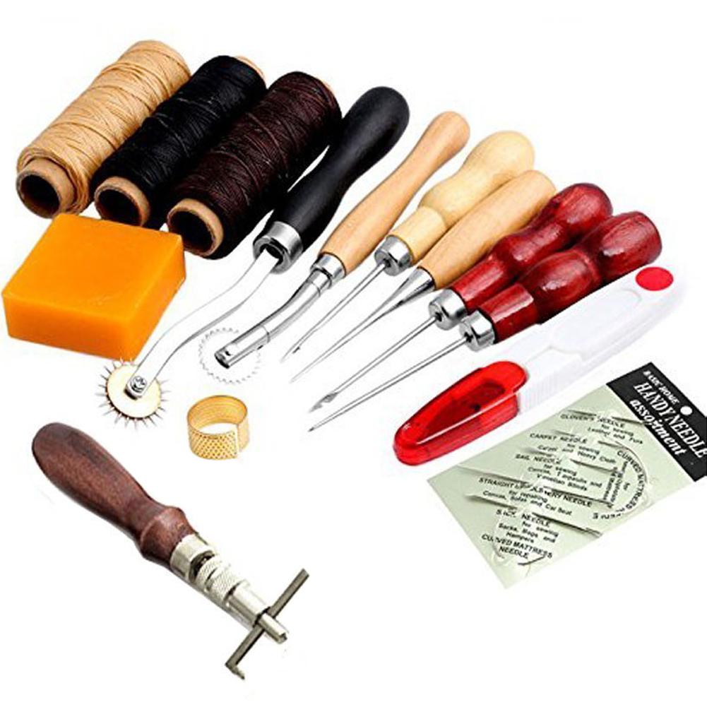 Naehen Lieferungen Zubehoer Werkzeuge, Leder Handwerk Hand Naehen ...